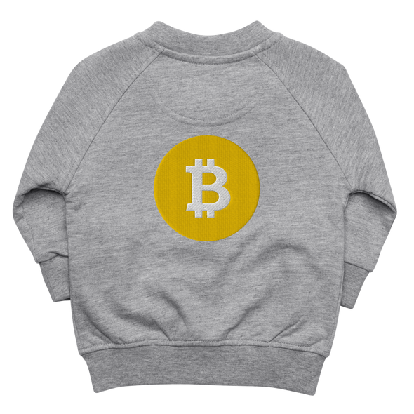 Bitcoin SV Logo Baby Organic Jacket Heather Grey 6-12m - zeroconfs