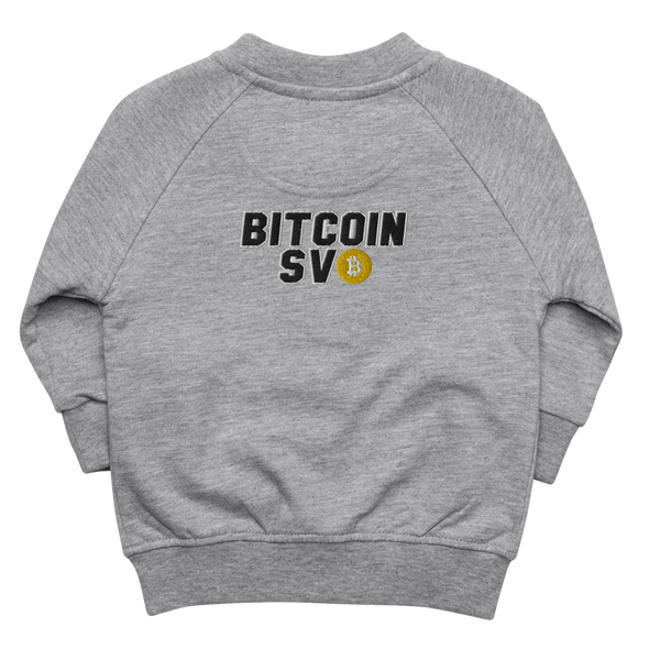Bitcoin SV Sports Baby Organic Jacket Heather Grey 6-12m - zeroconfs