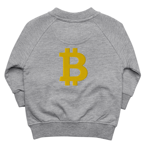 Bitcoin Baby Organic Jacket Heather Grey 6-12m - zeroconfs
