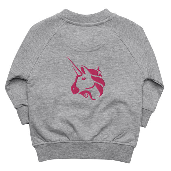 Uniswap Unicorn Baby Organic Jacket Heather Grey 6-12m - zeroconfs