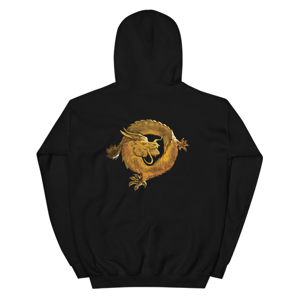 Bitcoin SV Woken Dragon Hooded Sweatshirt Back   - zeroconfs