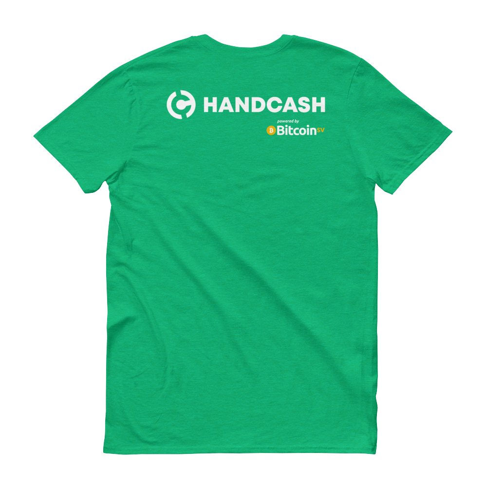 HandCash Official Customizable Short-Sleeve T-Shirt   - zeroconfs