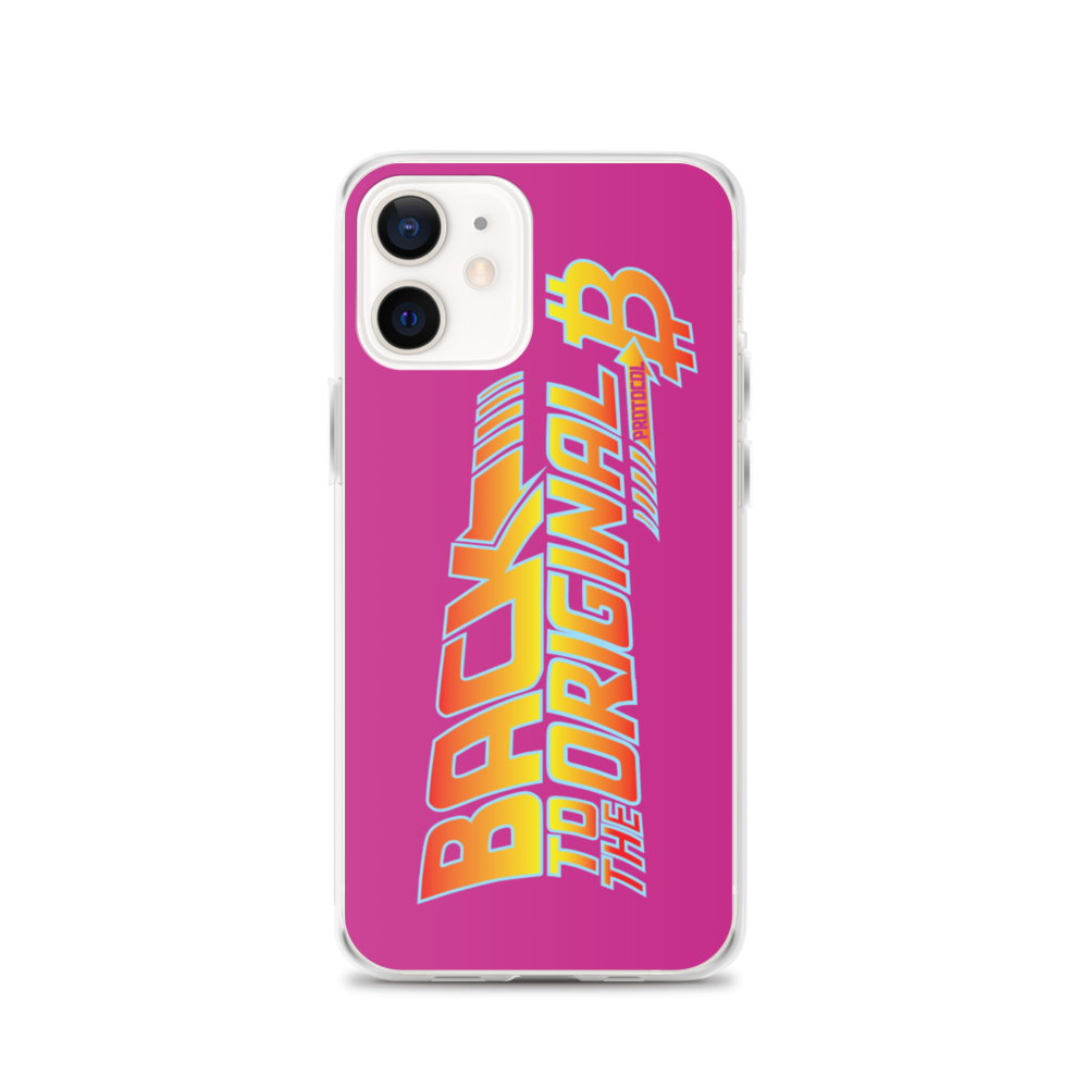 Back To The Original Bitcoin Protocol iPhone Case Pink iPhone 12  - zeroconfs