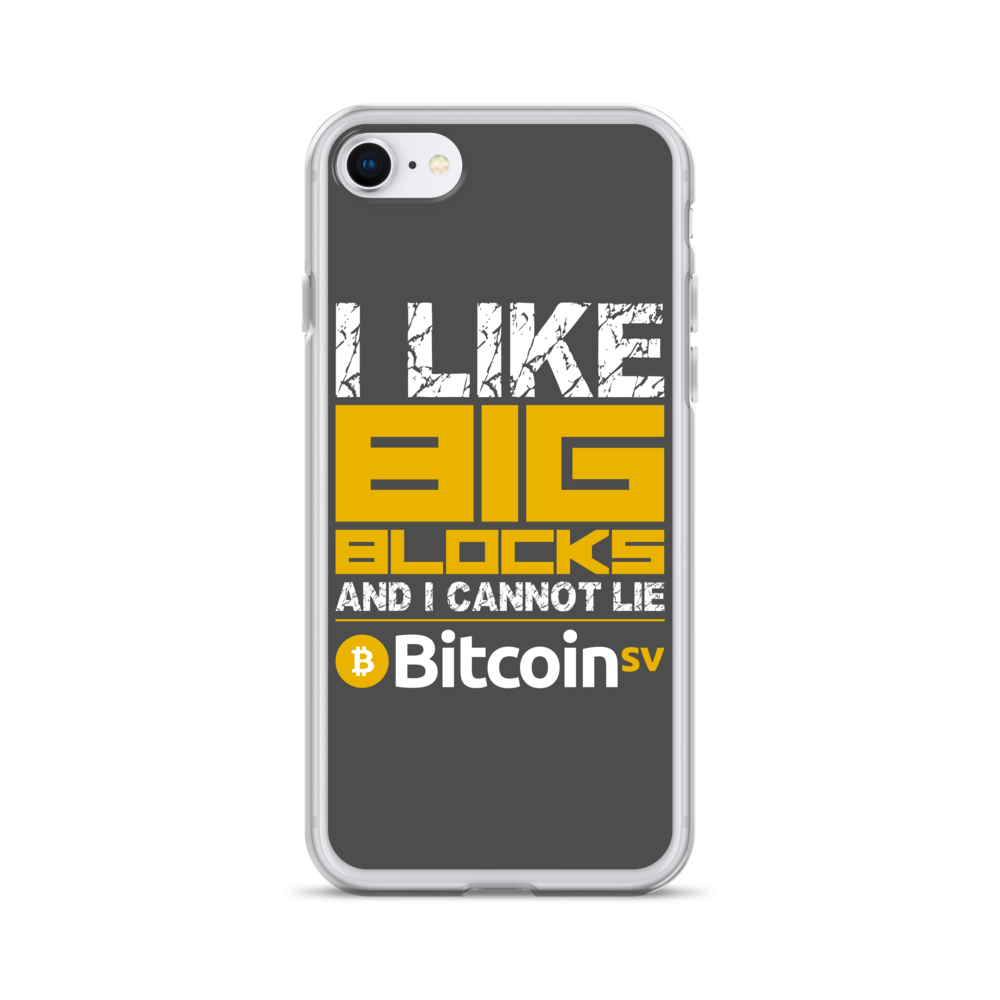 I Like Big Blocks Bitcoin SV iPhone Case iPhone SE  - zeroconfs