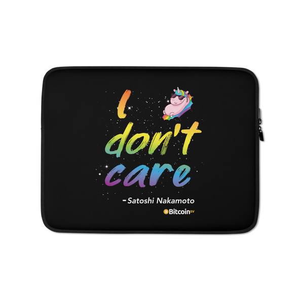 I Don't Care Bitcoin SV Laptop Sleeve 13 in  - zeroconfs