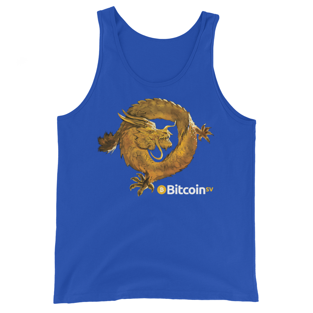 Bitcoin SV Woken Dragon Tank Top True Royal XS - zeroconfs