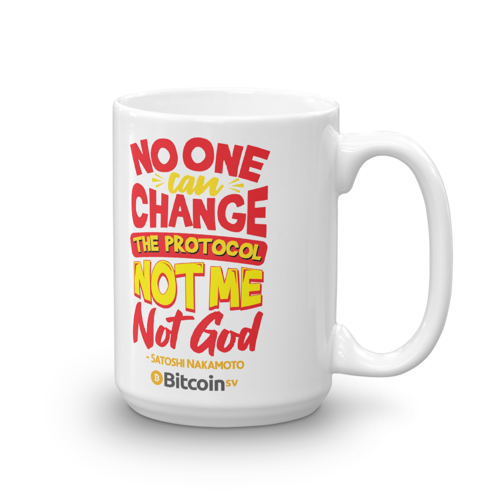 Locked Protocol Bitcoin SV Coffee Mug 15oz  - zeroconfs