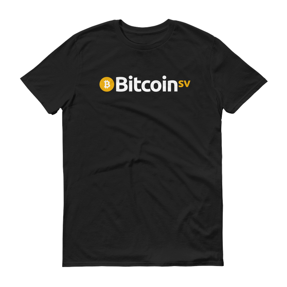 Bitcoin SV Short-Sleeve T-Shirt Black S - zeroconfs