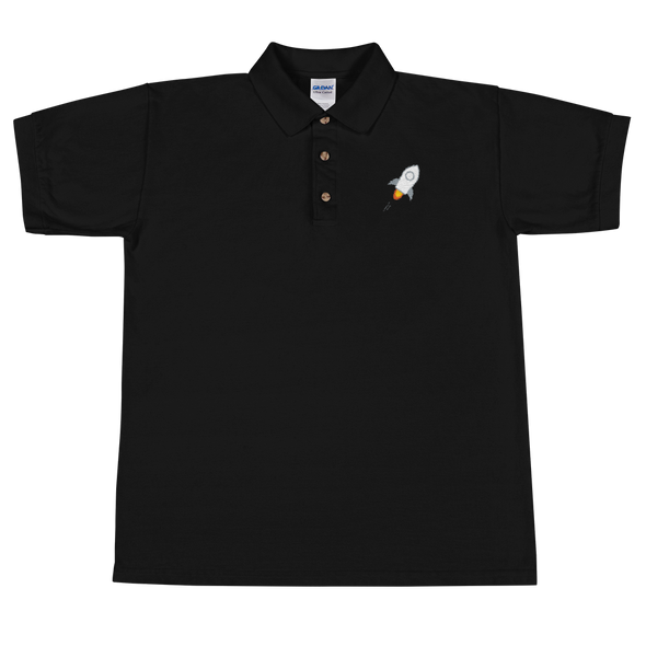 Stellar Embroidered Polo Shirt Black S - zeroconfs