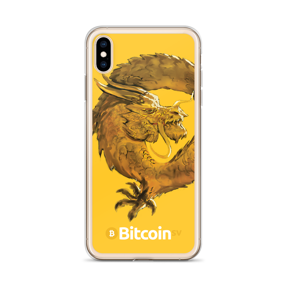 Bitcoin SV Woken Dragon iPhone Case Yellow   - zeroconfs