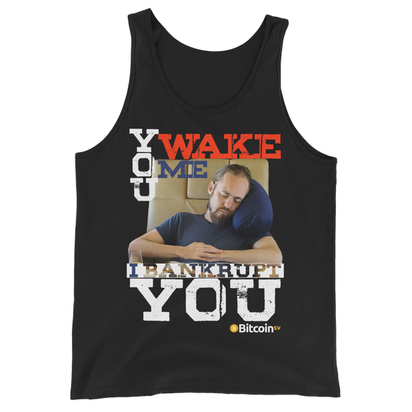 Don't Wake Shadders! Bitcoin SV Tank Top Black XS - zeroconfs