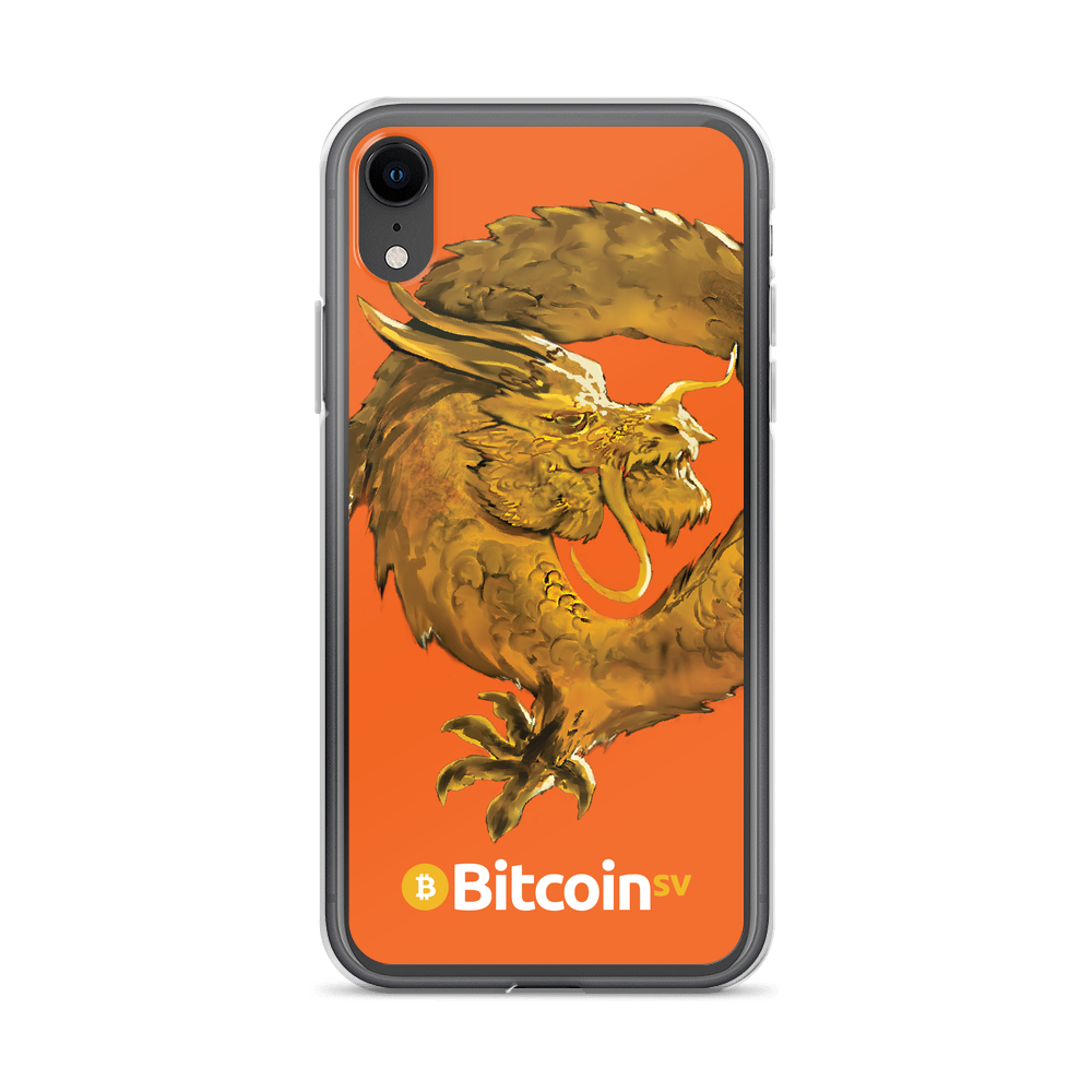 Bitcoin SV Woken Dragon iPhone Case Orange iPhone XR  - zeroconfs