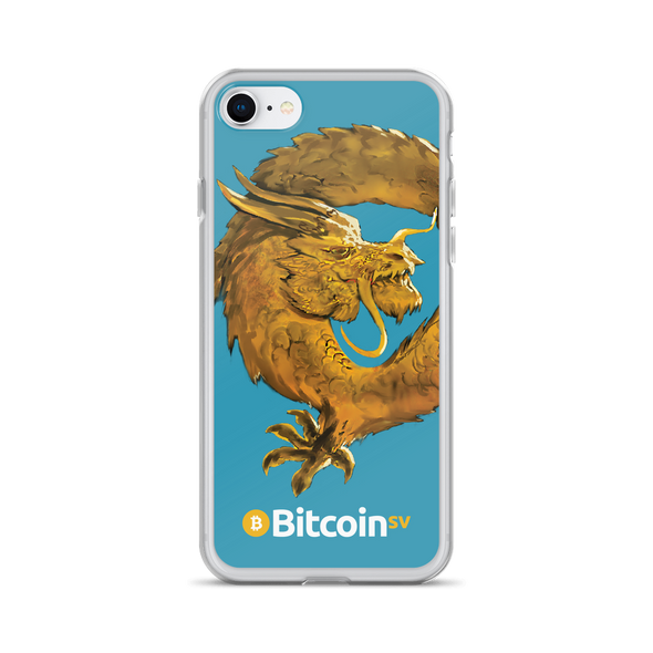 Bitcoin SV Woken Dragon iPhone Case Blue iPhone 7/8  - zeroconfs