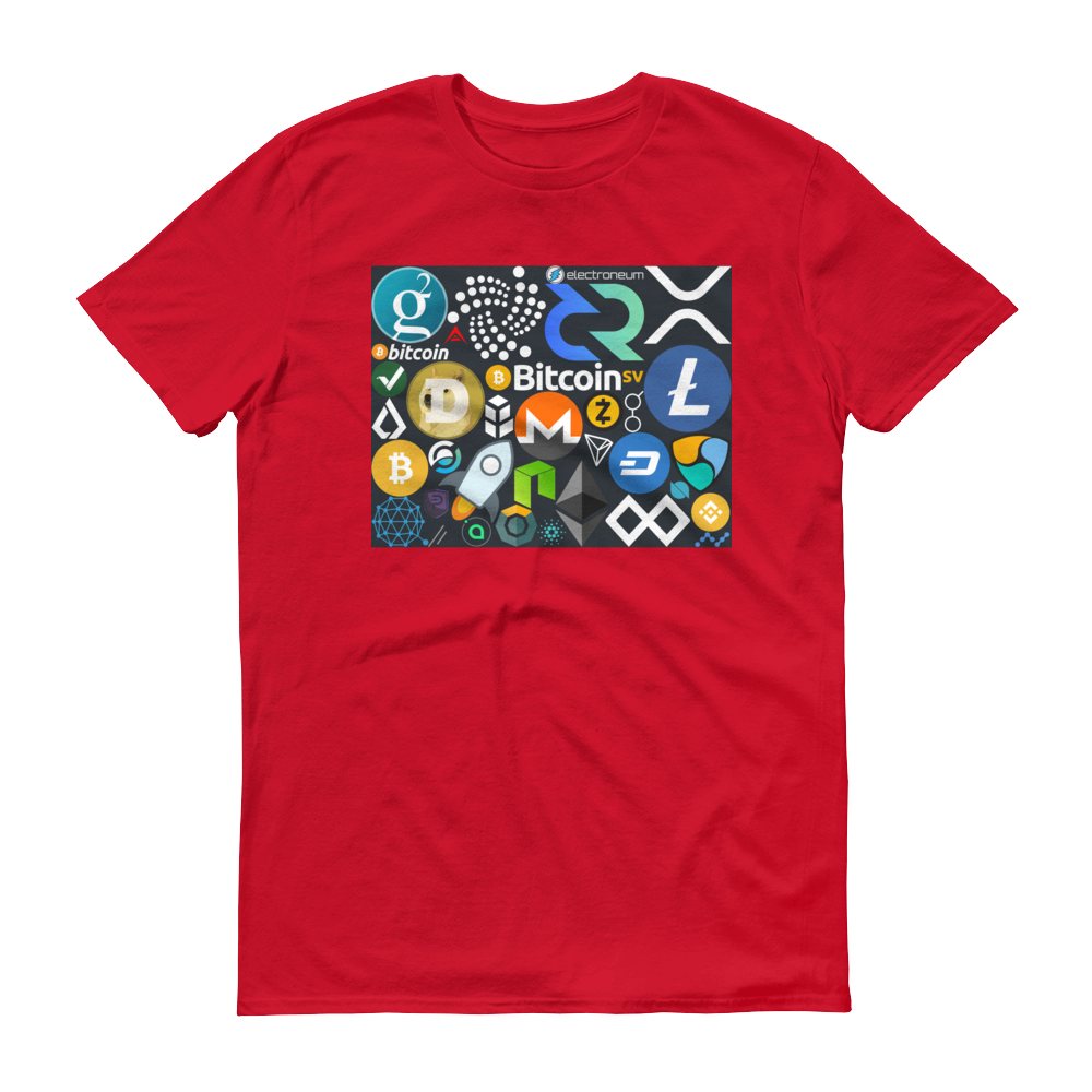 Crypto Calling Short-Sleeve T-Shirt Red S - zeroconfs