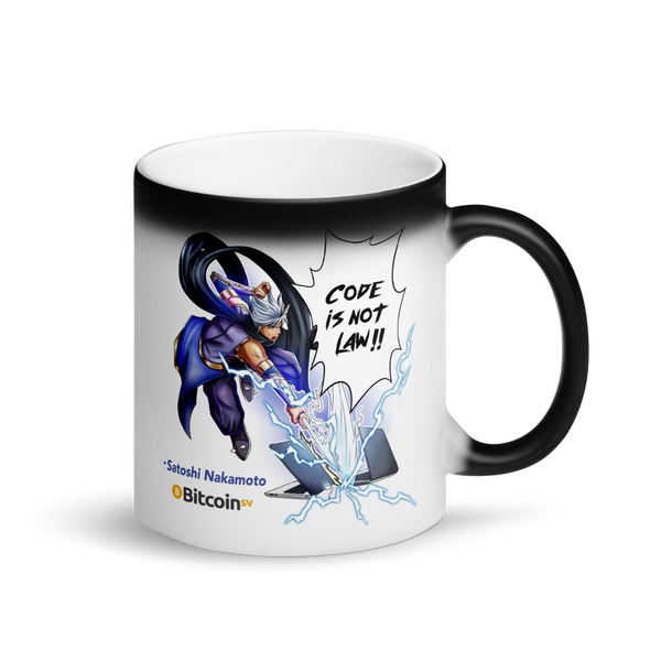 Code Is Not Law Bitcoin SV Samurai Magic Mug Default Title  - zeroconfs