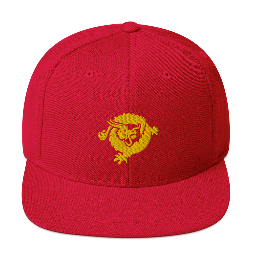 Bitcoin SV Dragon Snapback Hat Gold Red  - zeroconfs