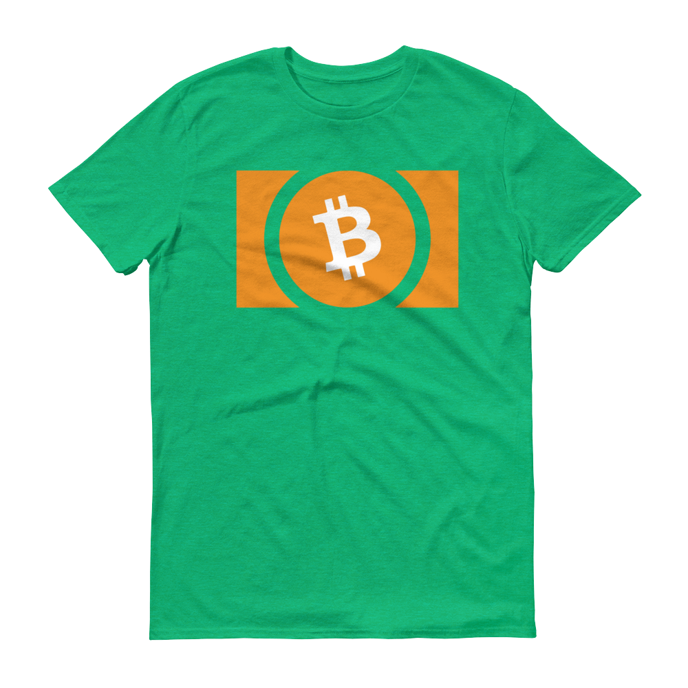 Bitcoin Cash Short-Sleeve T-Shirt Heather Green S - zeroconfs