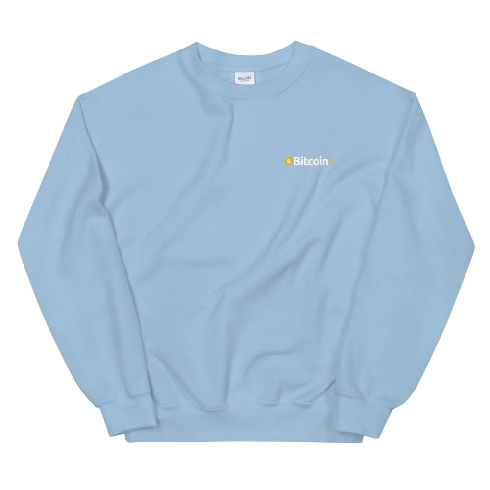 Bitcoin SV Woken Dragon Sweatshirt Back Light Blue S - zeroconfs