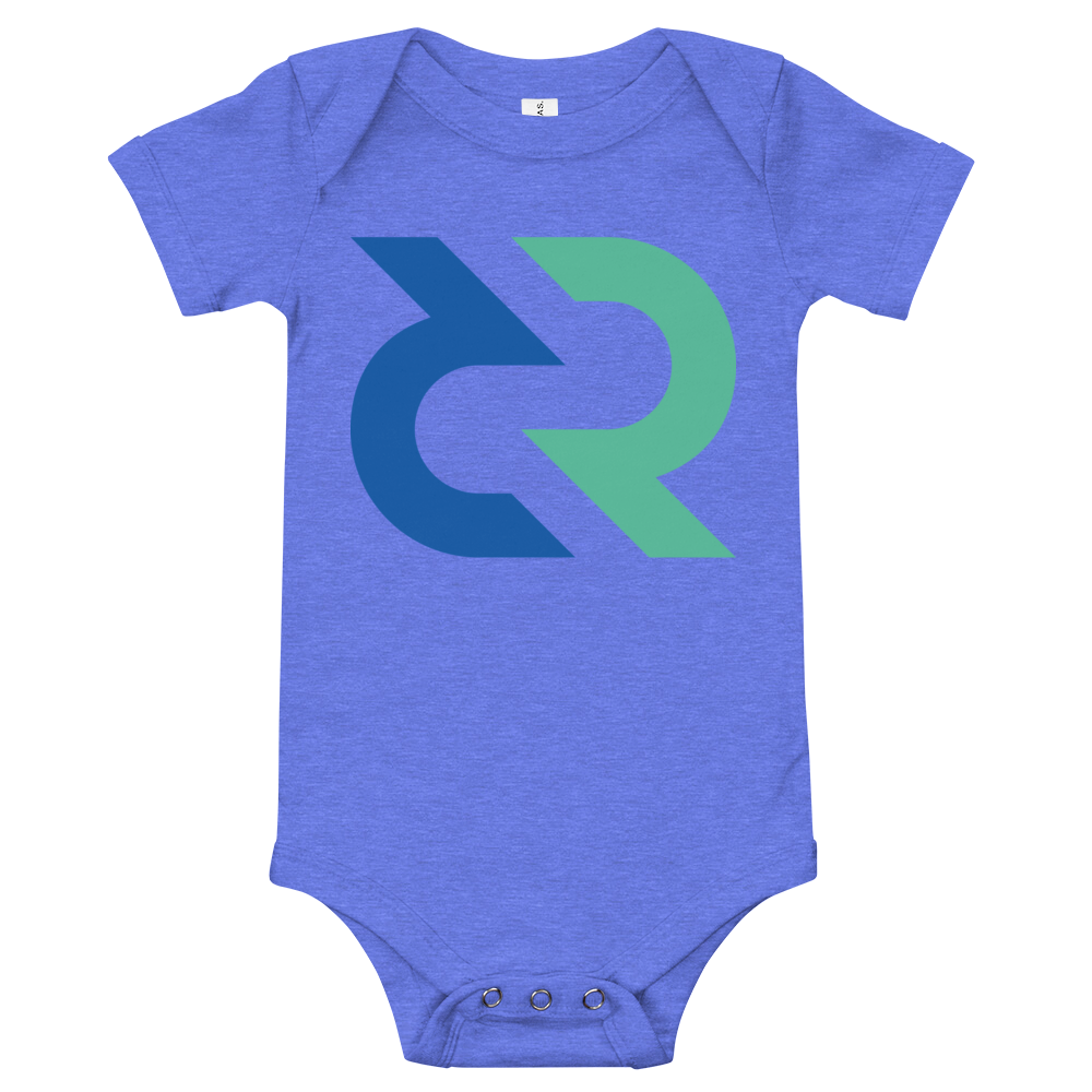 Decred Baby Bodysuit Heather Columbia Blue 3-6m - zeroconfs