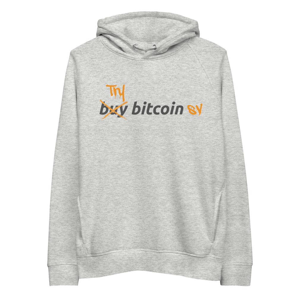 Try Bitcoin SV Premium Eco Hoodie Heather Grey S - zeroconfs