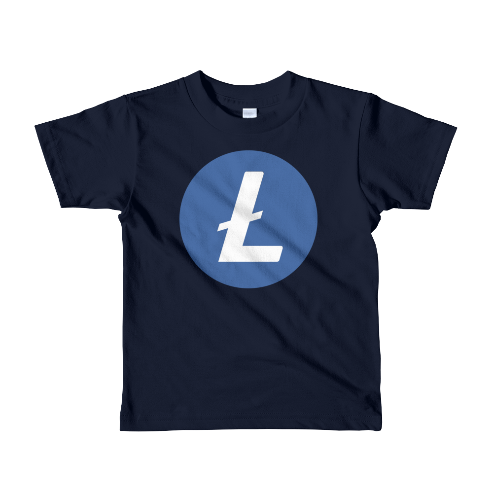 Litecoin Short Sleeve Kids T-Shirt Navy 2yrs - zeroconfs