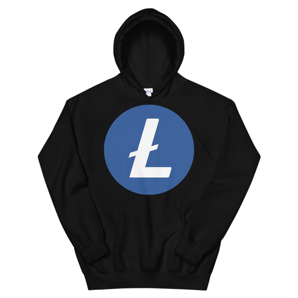 Litecoin Women's Hooded Sweatshirt Black S - zeroconfs