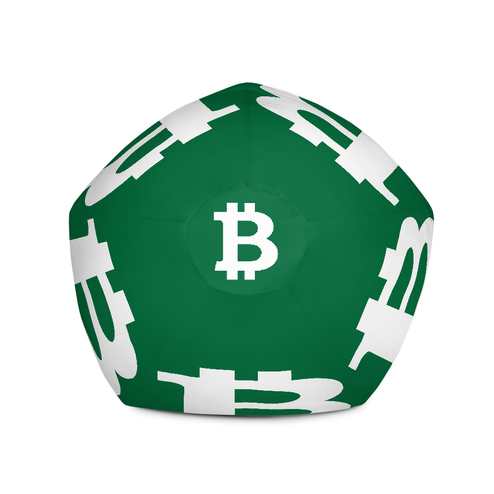Bitcoin SV Green Bean Bag Cover Only   - zeroconfs
