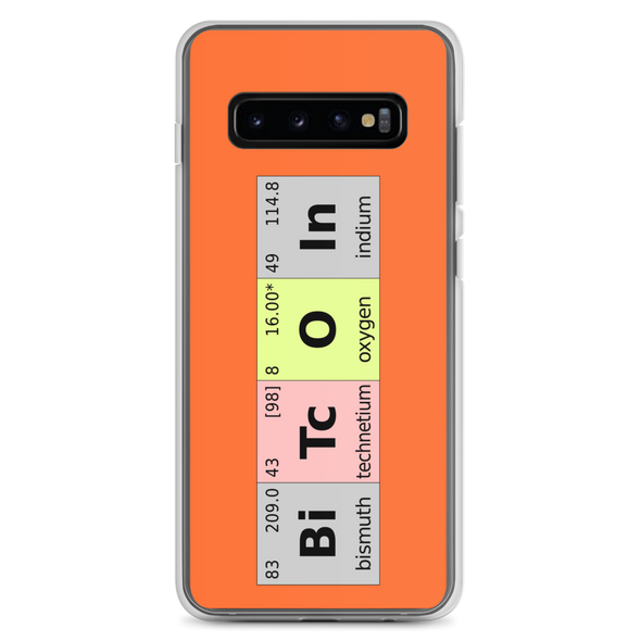 Bitcoin Periodic Table Samsung Case Samsung Galaxy S10+  - zeroconfs