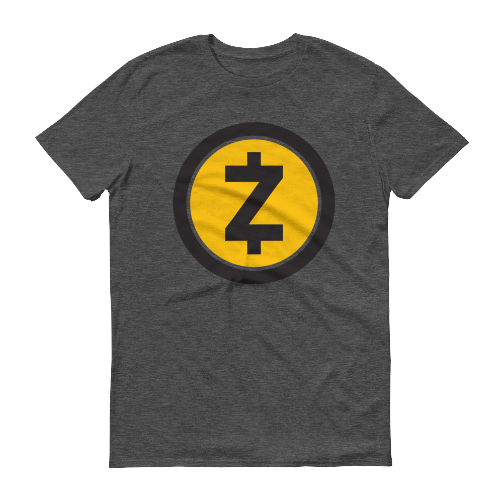 Zcash Short-Sleeve T-Shirt Heather Dark Grey S - zeroconfs
