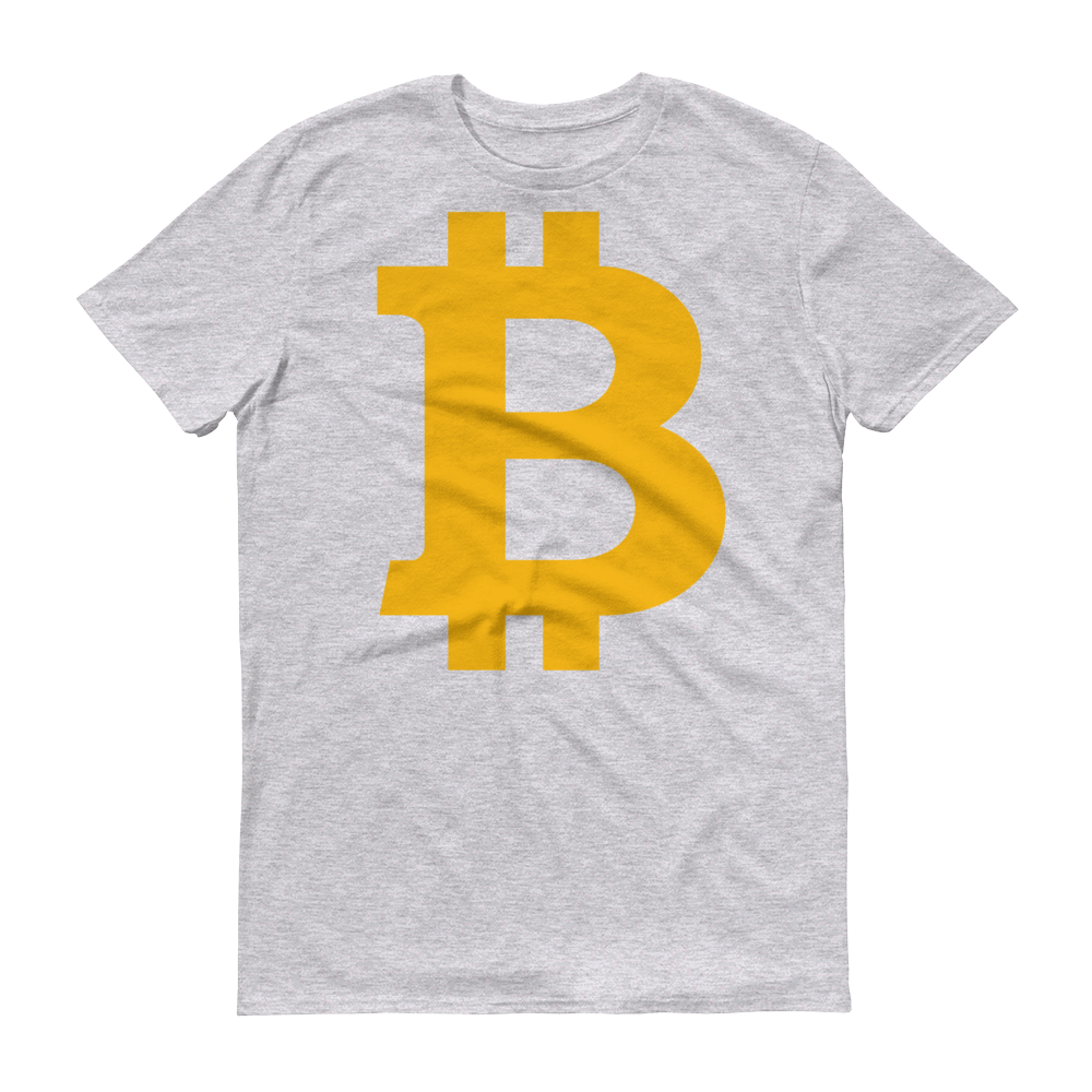 Bitcoin B Short-Sleeve T-Shirt Heather Grey S - zeroconfs