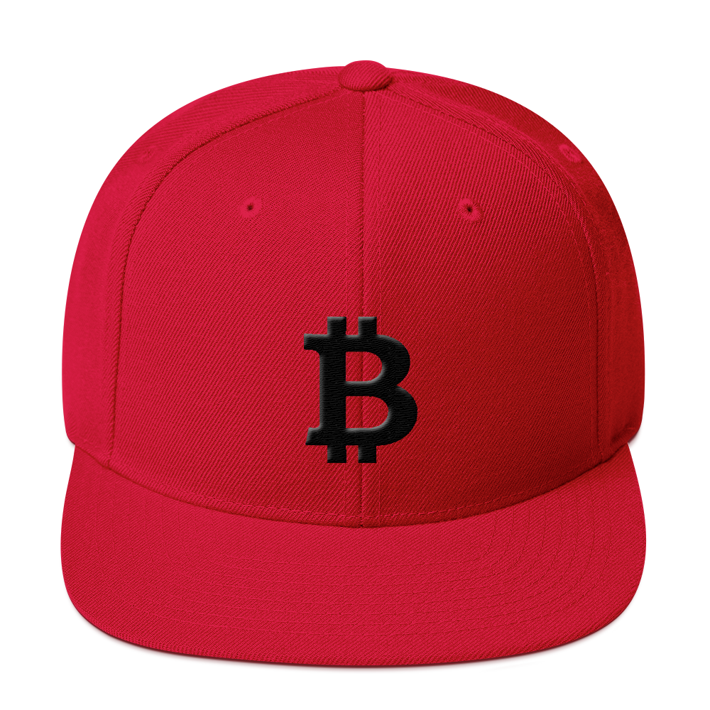 Bitcoin Blacknet SE Snapback Hat Red  - zeroconfs