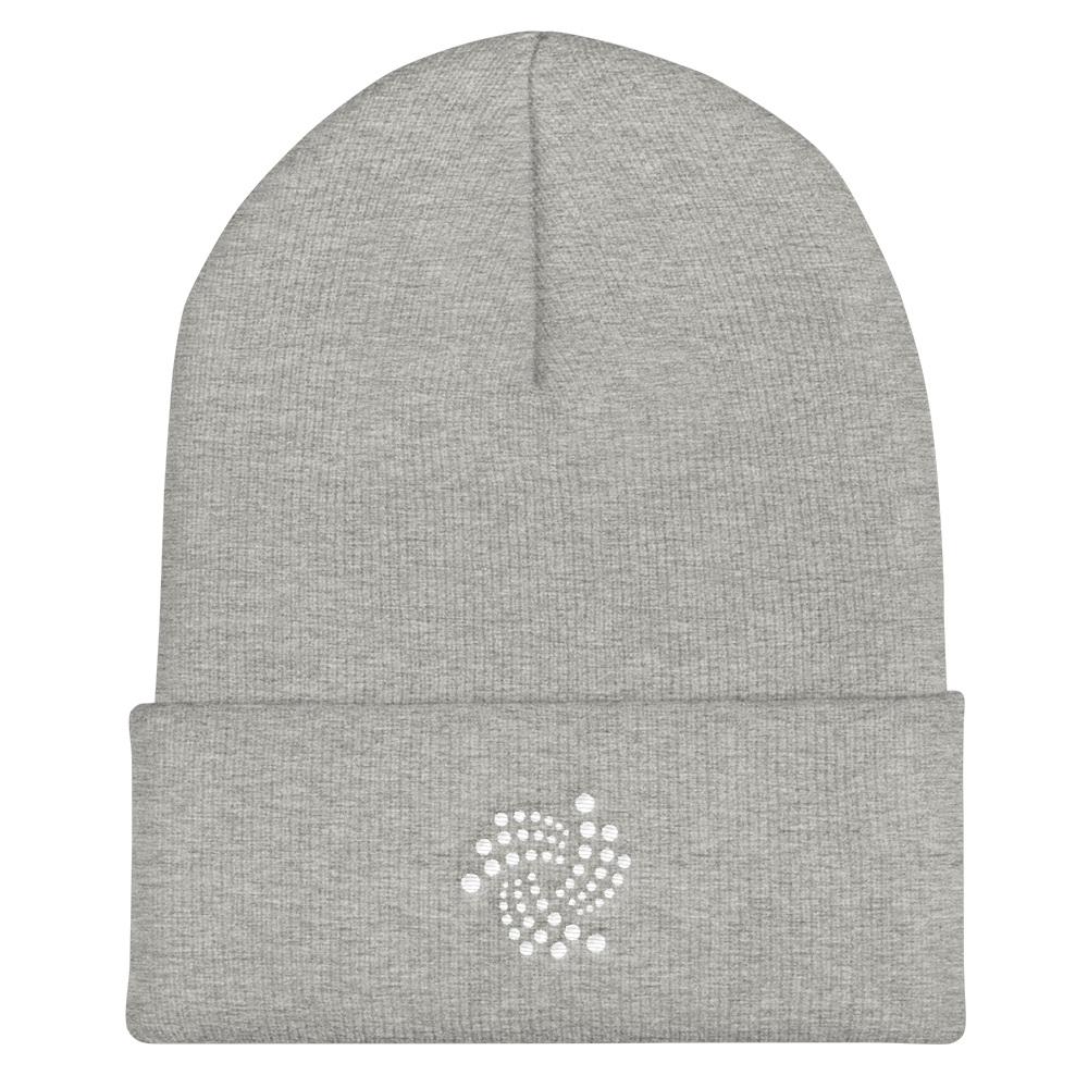 IOTA Cuffed Beanie Heather Grey  - zeroconfs