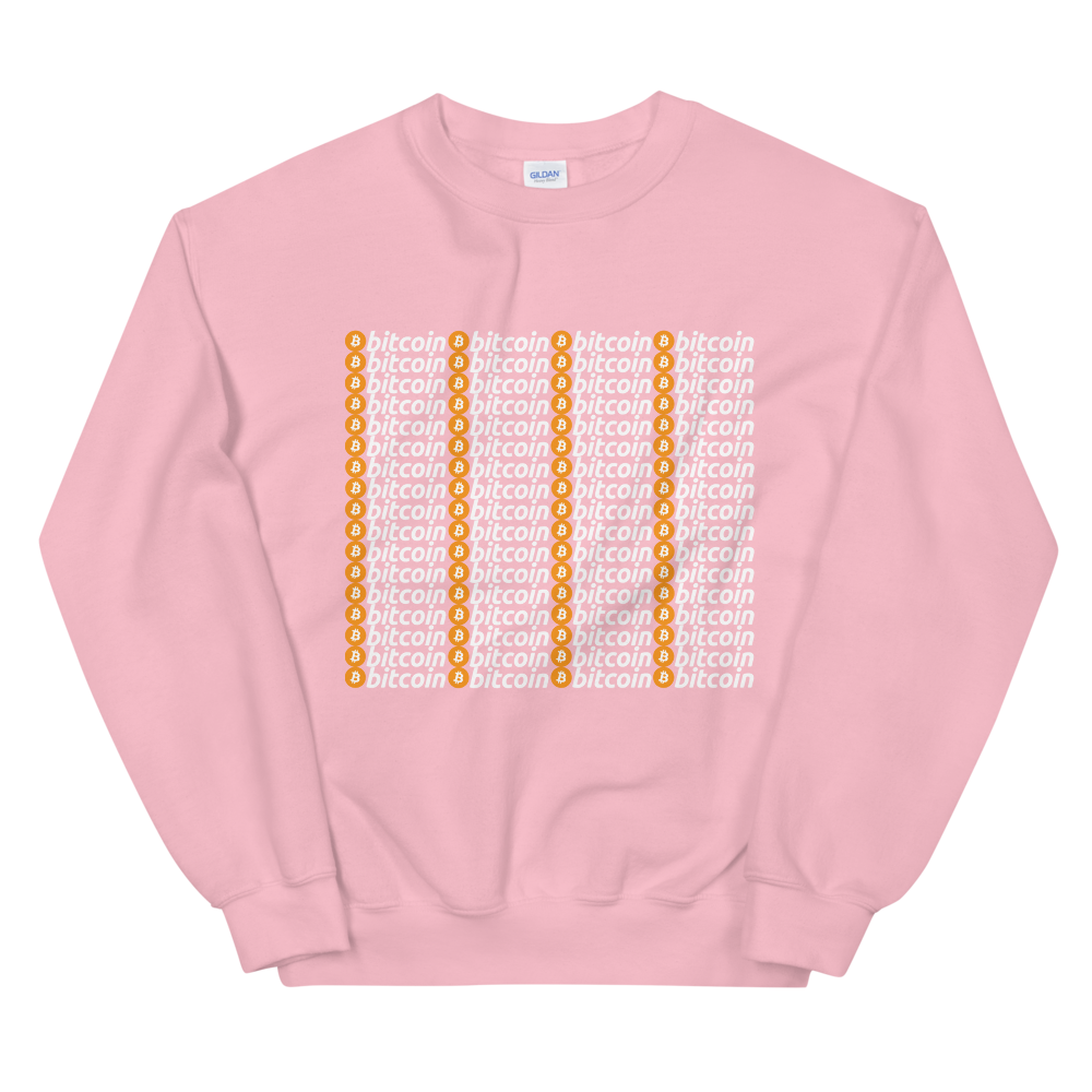 Bitcoins Women's Sweatshirt Light Pink S - zeroconfs