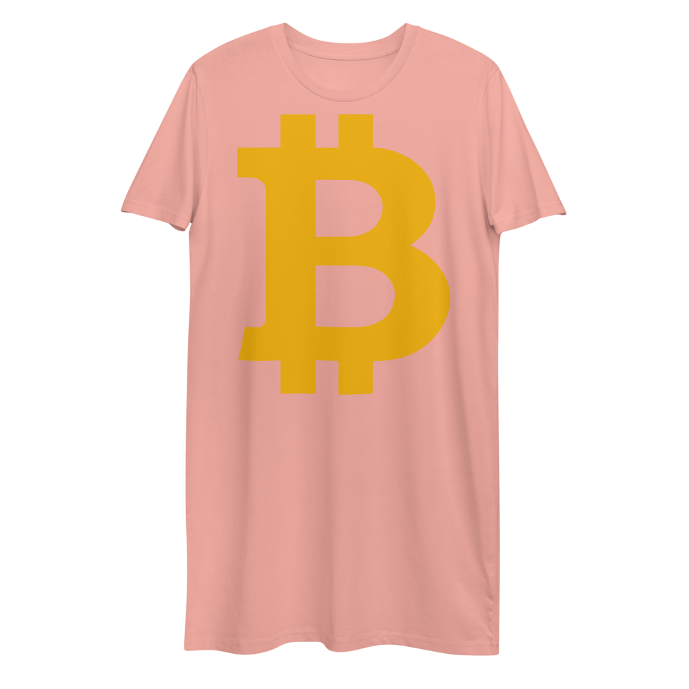 Bitcoin B Premium T-Shirt Dress Canyon Pink XS - zeroconfs