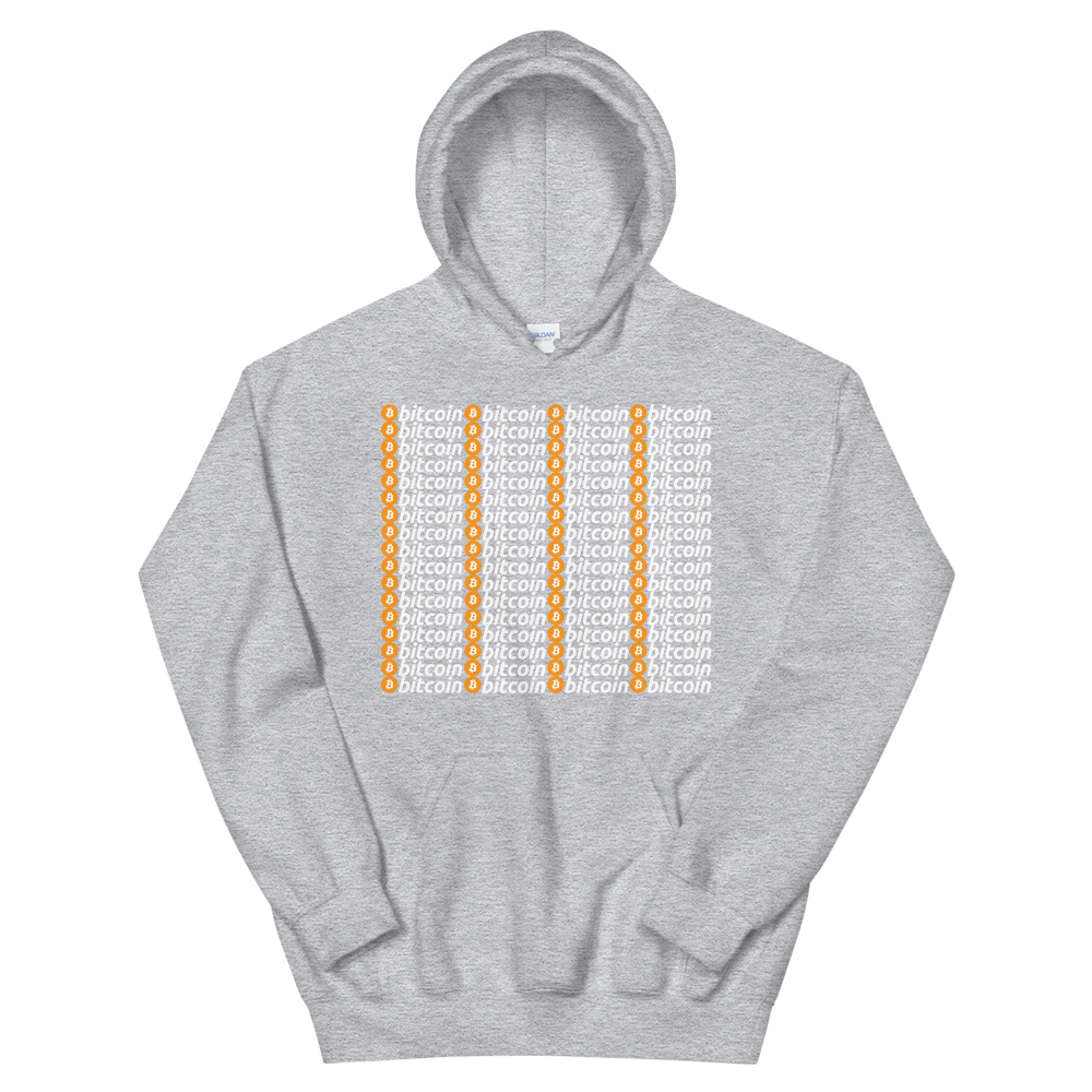 Bitcoins Hooded Sweatshirt Sport Grey S - zeroconfs