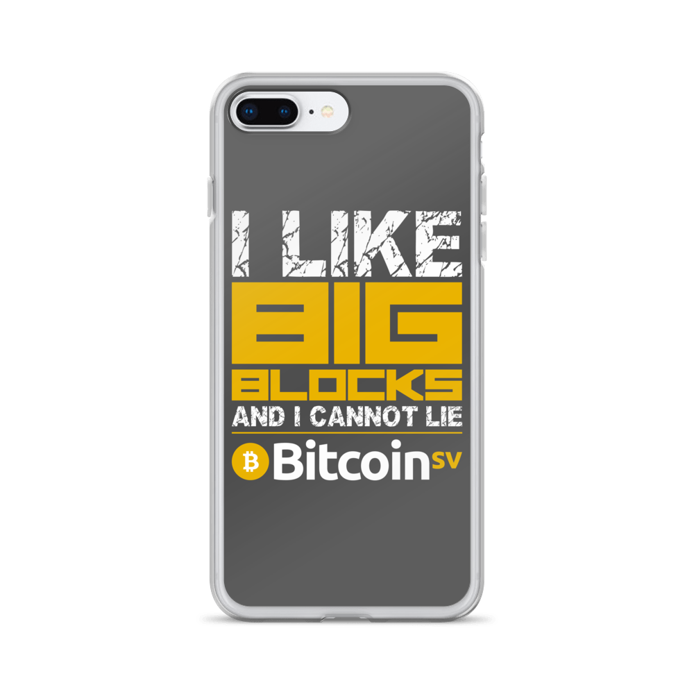 I Like Big Blocks Bitcoin SV iPhone Case iPhone 7 Plus/8 Plus  - zeroconfs