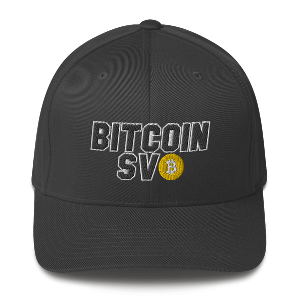 Bitcoin SV Sports Flexfit Cap Dark Grey S/M - zeroconfs