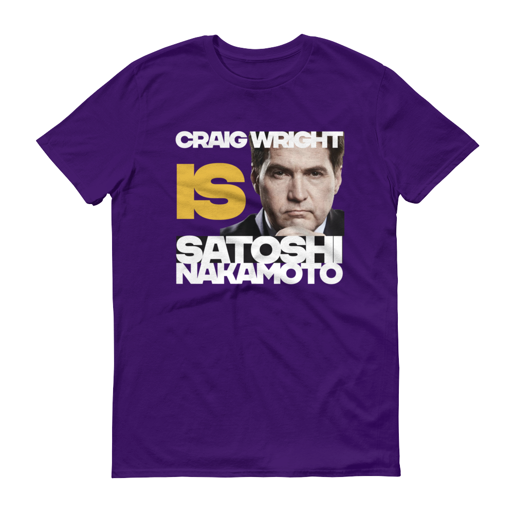 Craig Is Satoshi Short-Sleeve T-Shirt Purple S - zeroconfs