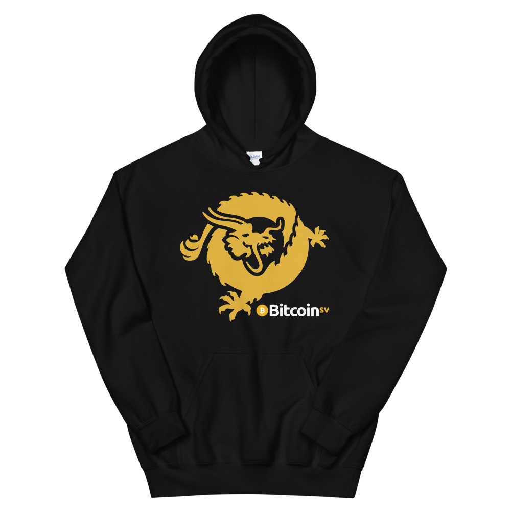 Bitcoin SV Dragon Women's Hooded Sweatshirt Black S - zeroconfs