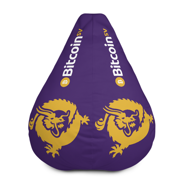 Bitcoin SV Dragon Purple Bean Bag Cover Only Default Title  - zeroconfs