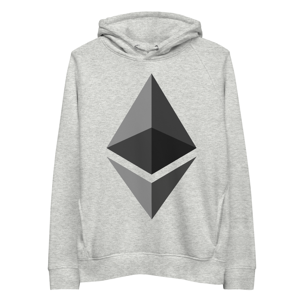 Ethereum Premium Eco Hoodie Heather Grey S - zeroconfs