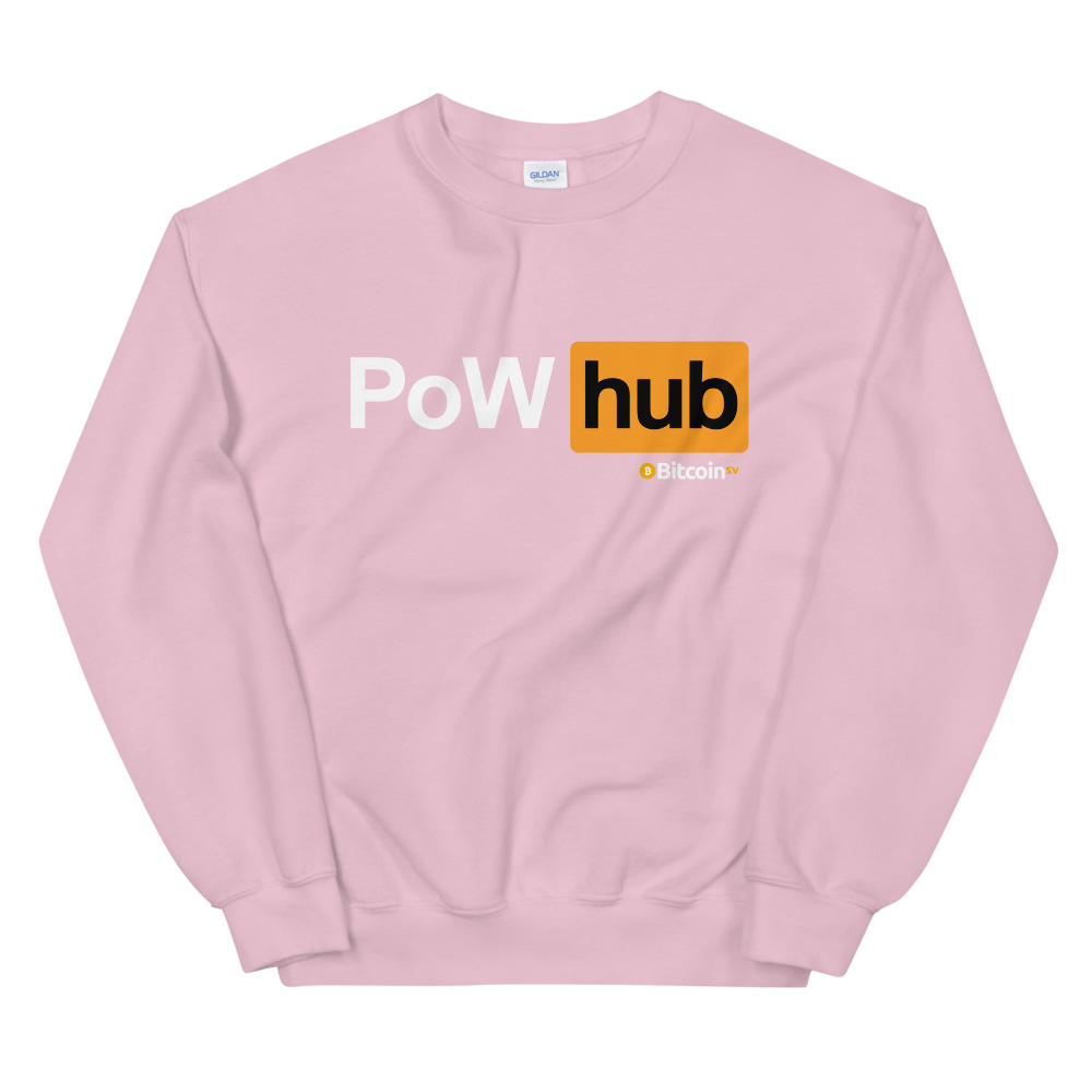 Proof Of Work Hub Bitcoin SV Women's Sweatshirt Light Pink S - zeroconfs