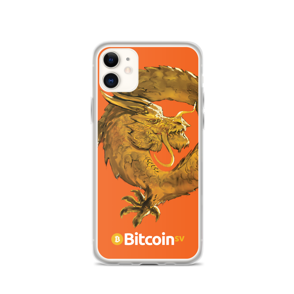 Bitcoin SV Woken Dragon iPhone Case Orange iPhone 11  - zeroconfs