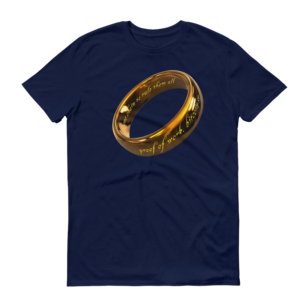 One Chain To Rule Them All Bitcoin SV Short-Sleeve T-Shirt Navy S - zeroconfs