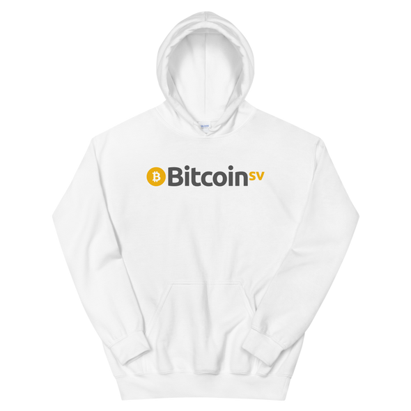 Bitcoin SV Women's Hooded Sweatshirt White S - zeroconfs