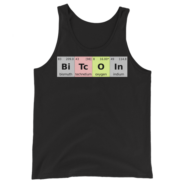 Bitcoin Periodic Table Tank Top Black XS - zeroconfs