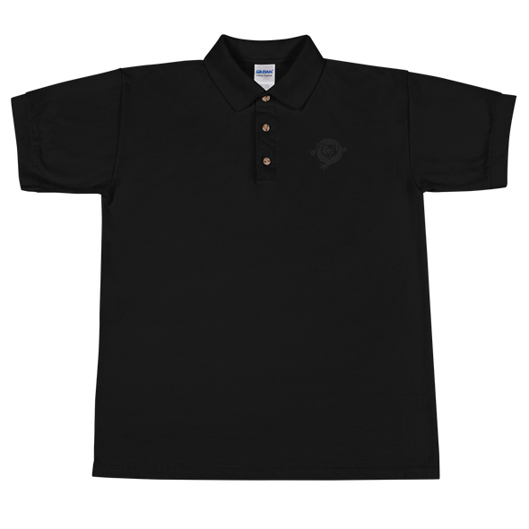 Bitcoin SV Dragon Embroidered Polo Shirt Black Black S - zeroconfs