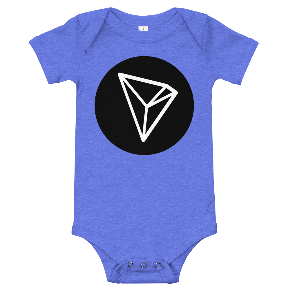 Tron Baby Bodysuit Heather Columbia Blue 3-6m - zeroconfs