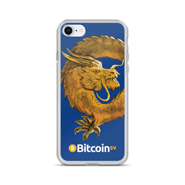 Bitcoin SV Woken Dragon iPhone Case Navy iPhone 7/8  - zeroconfs
