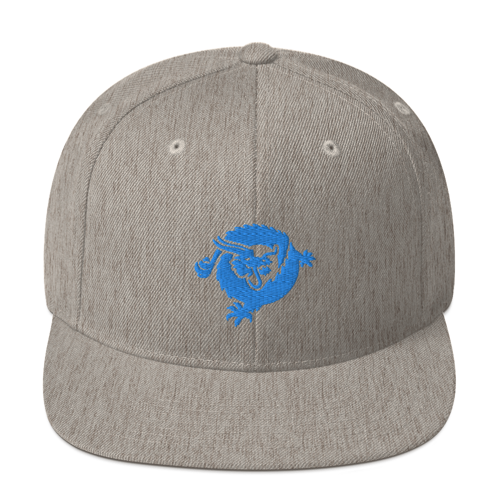 Bitcoin SV Dragon Snapback Hat Blue Heather Grey  - zeroconfs